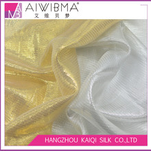 Plain dyed/printed/PFD silk lurex/metallic lame chiffon georgette fabric