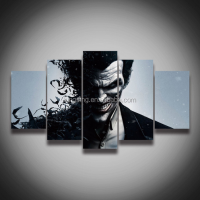 Framed art ! High quality Printed picture Joker painting on canvas 5 panels / set for wall decoration Canvas art print posters