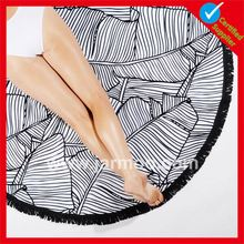 terry cloth sop up Double sides printing round beach towel wholesale