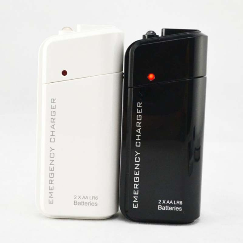 2AA Battery Powered Emergency Use Mobile Phone Usb Charger