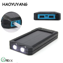 Waterproof Lamplighter Solar Power Bank Supply 20000mAh Outdoor Camping SOS Strong LED Light