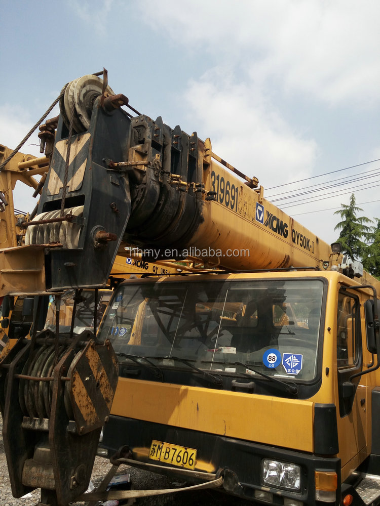Used XCMG 50ton crane tadano 200 ton used crane for sale in shanghai