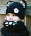 Newborn Baby Girls Knit Outfit Kitty Fox 2-8 month Costume Photo Prop Unisex