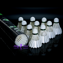 packing 12pcs in one box Competition Sports White Duck Feather Ball Game Shuttlecocks Outdoor No.3