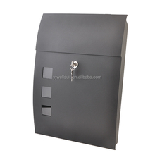 Iron Made Popular Design Ourdoor Waterproof Letterbox, Wall Mounted Letterbox