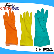 Colourful Fashion Household Rubber Gloves for Kitchen Cleaning and Laundry