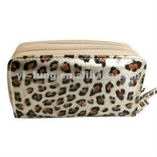 Leopard of double Cosmetic Bag