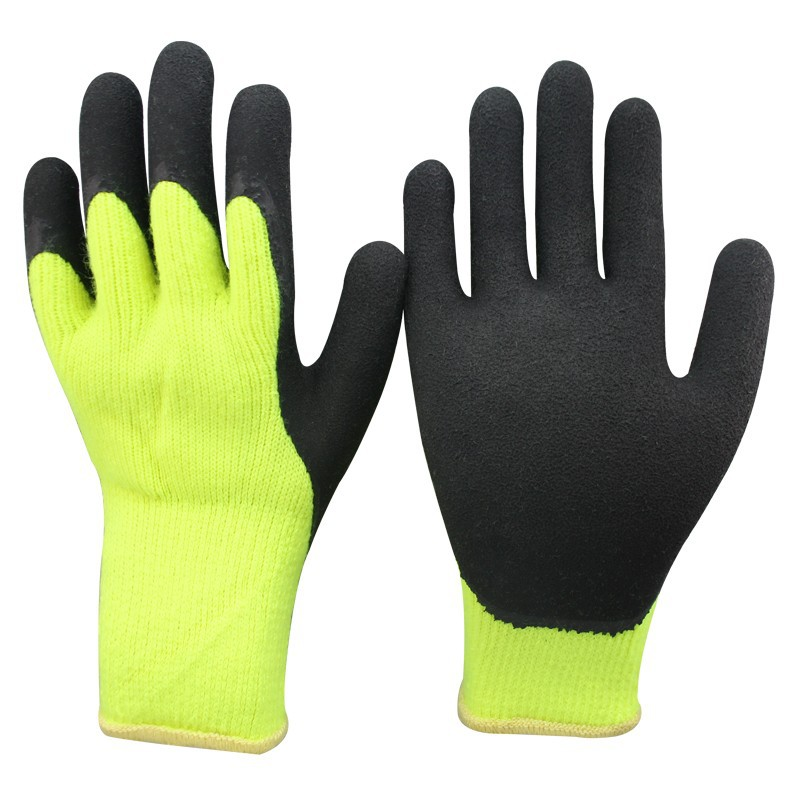 NMSAFETY latex winter use construction safety gloves