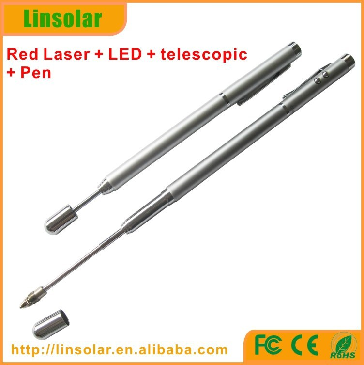 Teacher usage telescopic laser pointer pen, red color laser pointer, telescopic pointer pen
