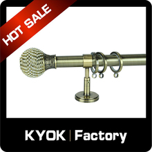KYOK Household decoration 28mm utility roller telescopic rods, thick curtain rods Turkey style retail wholesale