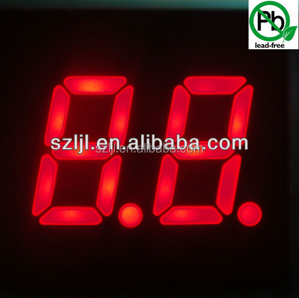 Dual Digits 0.56 inch 7 Segment LED Display Red/Green/Blue/White/Yellow
