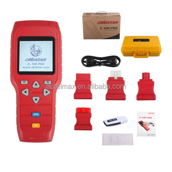xtool iobd2 X-100 PRO Auto Key Programmer (C+D) Type for IMMO+Odometer+OBD Software Support EEPROM Function