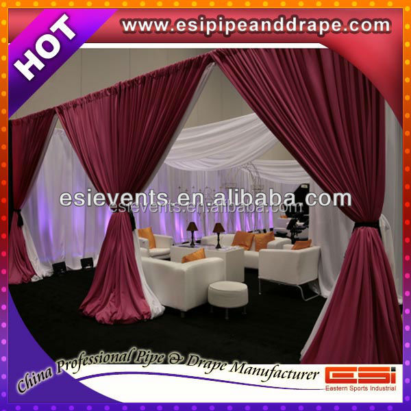 ESI 3m high x 6m wide aluminum Wedding Backdrop Stand with telescopic rod Expandable Backdrop Pipes for Wedding Drape