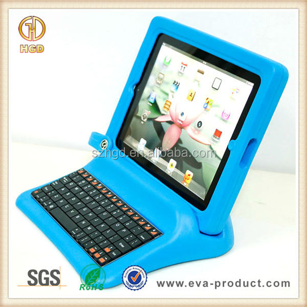 Best quality non-toxic EVA foam material tablet cover case with keyboard for apple ipad