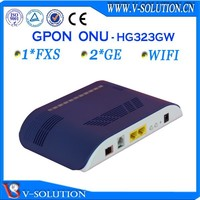 Fiber optic 2GE + 1FXS ONT GPON FTTH wireless wifi router