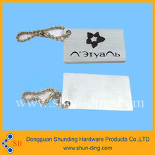 Customized metal hang tag with own logo