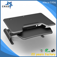 Height Adjustable computer monitor stand desk