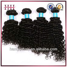 Top grade 100% human hair weaving natural color Italian curl brazilian weft hair extensions jerry curl hair weave