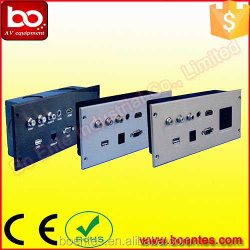 Wall Mount Multiple Media Socket Plate with Security Box WP8092