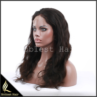 Noblest 7A Best Glueless Silk Top Human Hair Full Lace Wigs, Virgin Indian Human Hair silk base full lace wig