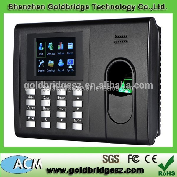 2015 New Hot cheap promotional zk time attendance punch card with backup battery