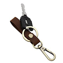 Leather Key Chain Organizer with Hanging Buckle for Car Home Keys
