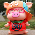 Wholesale cartoon character pig plastic piggy bank factory,custom coin piggy bank,custom child's piggy bank