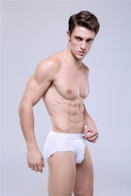 Plus size men's briefs & boxers white color bulk underwear man's panties