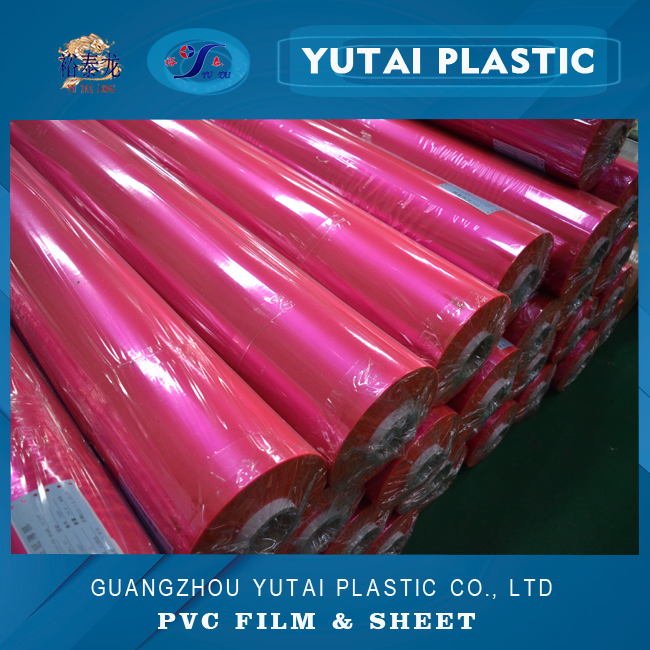 fluorescent shine red colored polyvinyl chloride pvc roll film manufacturer