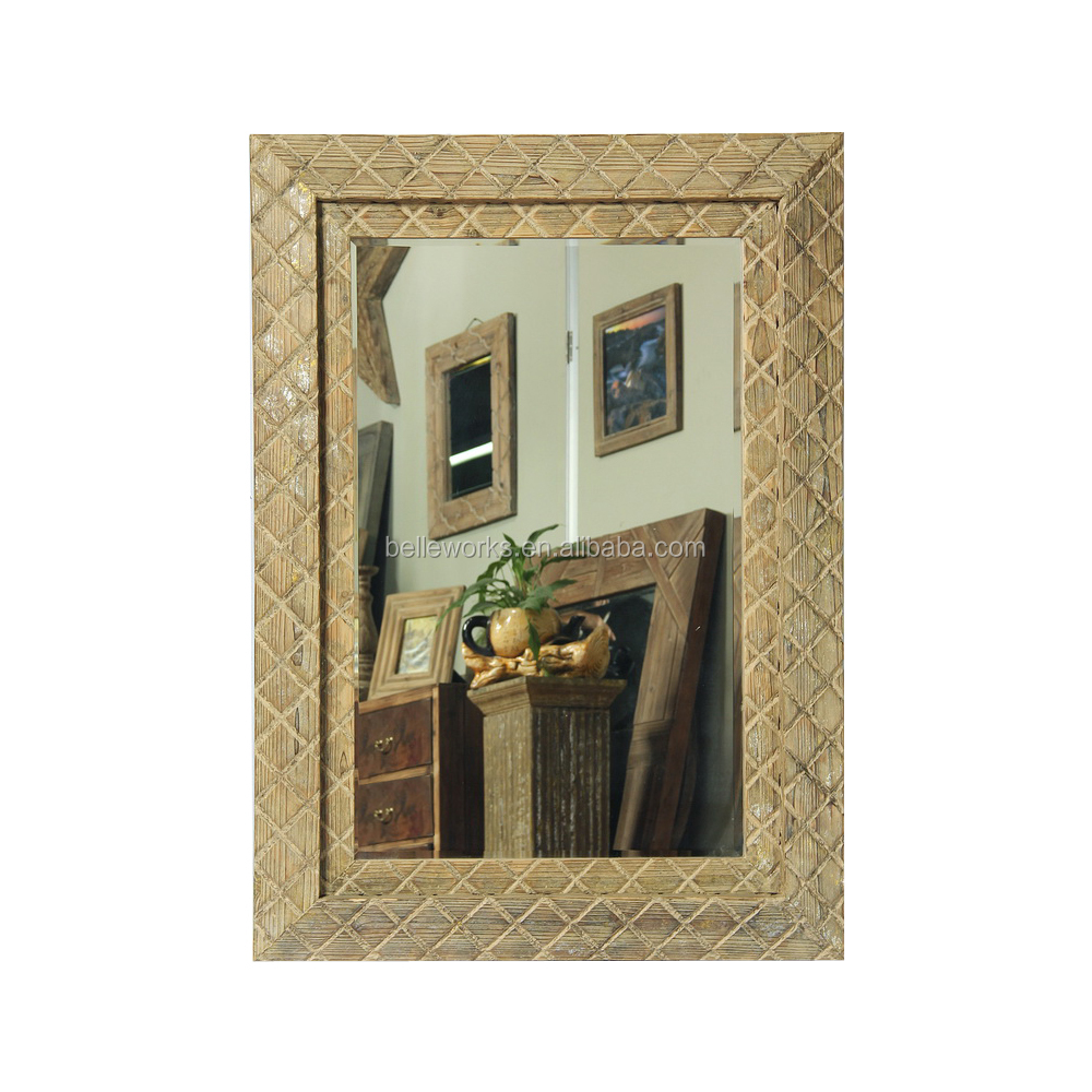 Classic Large Wood Carved Mirror Frame