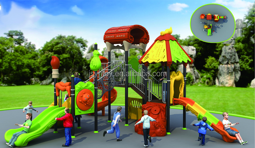 Factory direct price wonder child series outdoor playg house /kids outdoor playground big slides indoor and outdoor playground