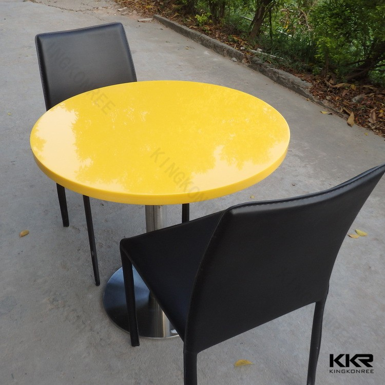 600*600 stone small dining tables hotel staff dinning sets