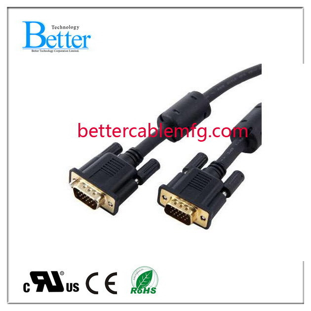 Best quality hot sale hd15 vga to rca male cable
