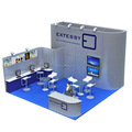 Detian Offer wooden trade show exhibition display stand exhibition booth design