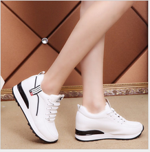 L10197a 2018 latest canvas ladies inner heel wedge footwear shoes for women