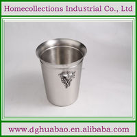 Hot selling different capacity stainless steel champagne bucket for cool