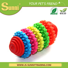 Customised ball with teeth plastic dog bone toy