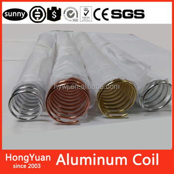 "korean Stationery material escolar office school coil binding 1"" aluminum 1inch aluminum wire coils spiral coil binding aluminum"