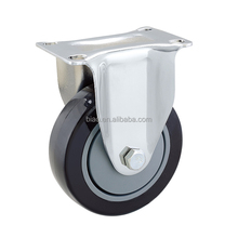 4 inch Rigid PU Industrial Caster wheels with ball bearing