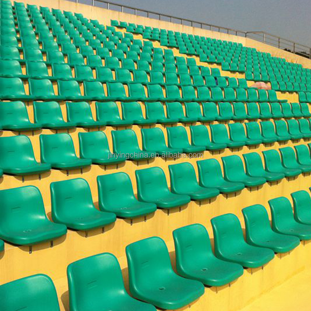 China cheap plastic outdoor demountable stadium bleacher seats