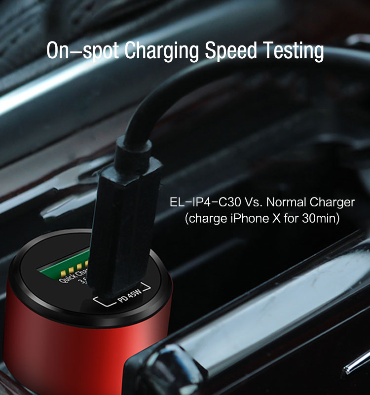 PD Car Charger QC3.0 63W CE FCC ROHS by SGS