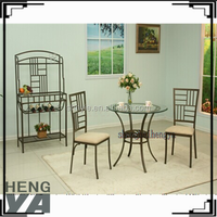 US style metal frame dining table