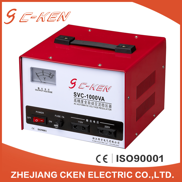 Cken New Product SVC 1KVA Single Phase AC Automatic Voltage Stabilizers , 240V 1000VA Voltage Stabilizers