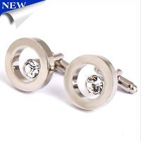 Jewelry shirt cufflinks for men's cuff buttons blue Crystal cuff links High Quality