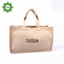Customized Eco-friendly Fabric Wholesale Cheap Tote Shopping Jute Bag