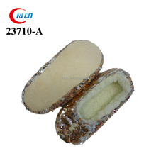 nice winter golden sequins baby shoes for girls cheap