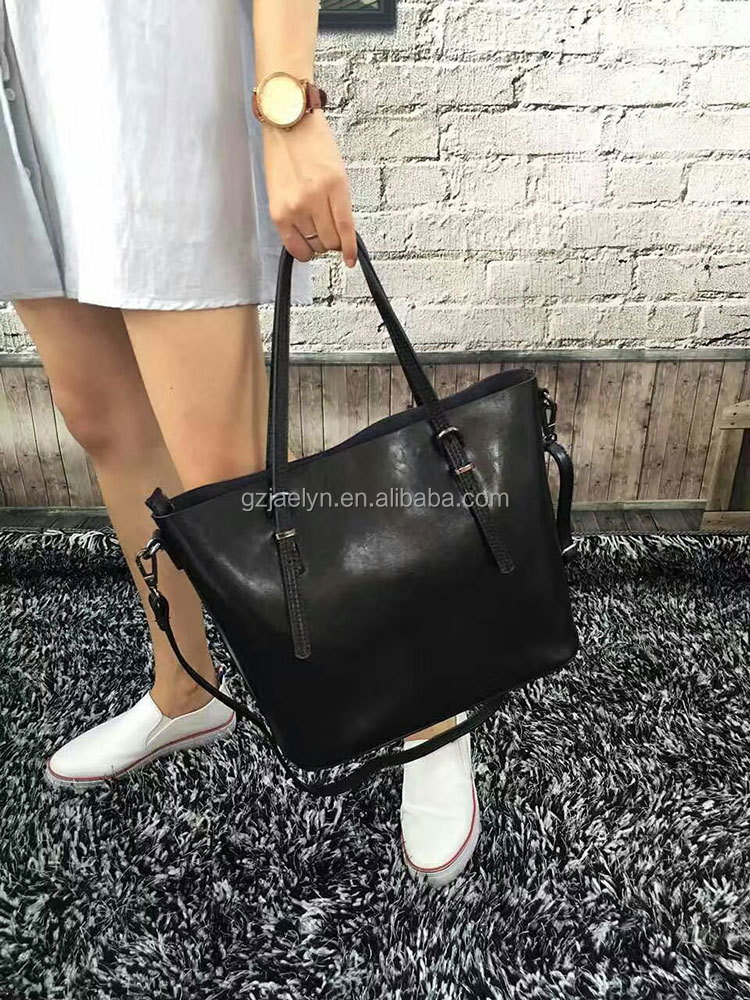 OEM order factory directly designer wax vintage leather handbags for women fancy genuine leather bag women sling bags