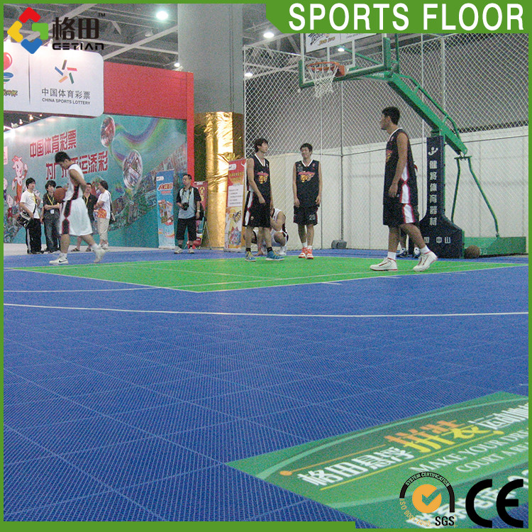 Suspended design outdoor basketball court paint