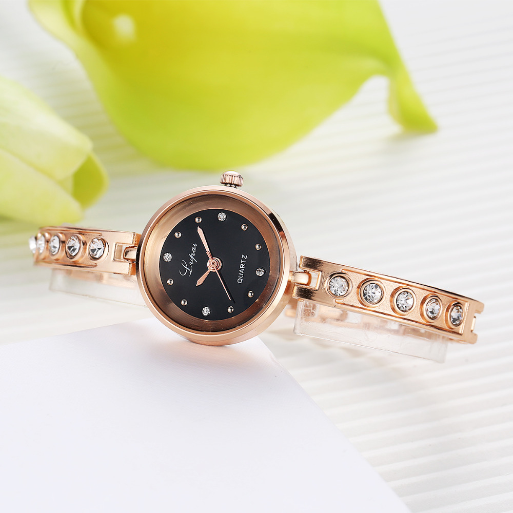 Lvpai New Brand Women Watches Alloy Crystal Wristwatches Ladies Dress Watches Gift Women Gold Fashion Luxury Quartz Watch Female