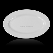 Oval Shape Melamine White Serving Plate 14 Inch